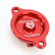 Red Magnetic Oil Filter Covers by ZipTy - 0940-1000