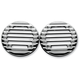 Chrome Finned Ultra Rear Speaker Grills - C0022-B