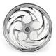 Chrome 21 x 3.5 Savage One-Piece Wheel for Dual Disc w/o ABS - 21350-9031-85C