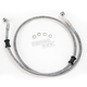 Front Standard Length Clear-Coated Braided Stainless Steel Brake Line Kit - 1741-2912