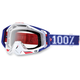 Red/White/Blue Varsity Racecraft Goggles w/Clear Lens - 50100-032-02
