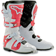 White/Red Tech 8 Light Boots