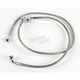 Rear Standard Length Clear-Coated Braided Stainless Steel Brake Line Kits - 1741-0176