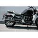 Black Ceramic Slash-Cut Rumblers Exhaust System - 14-7904-03S