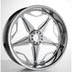 Chrome 18 in. x 5.50 in. Modular SpeedStar Billet Wheel - 602828