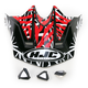 Black/Dark Silver/Red Visor for HJC CL-X6 Fuze Helmet - 730-919