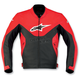 Red Indy Leather Jacket - 310170-30-46