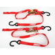 Red 1 in. Heavy-Duty Ratcheting Tie-Downs - 3920-0298