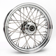 Chrome 16 x 3.5 40-Spoke Laced Wheel Assembly for Single Disc - 0203-0060