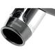 4 in. Straight-Cut Slip-On Muffler w/Black Billet Tips - 1801-0583