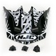 Black/Dark Silver/White Visor for HJC CL-XY  Fuze Youth Helmet - 272-959