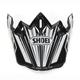 Black/White/Gray VFX-W Block Pass TC-5 Helmet Visor - 0245-6087-05