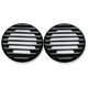 Gloss Black Finned Ultra Rear Speaker Grills - C0022-B
