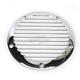 Chrome Finned Billet Derby Cover - 06-960-1C