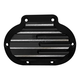 Black Finned Transmission Side Cover - C1360-B