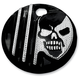 Black w/Diamond Edge Machine Head Fuel Door Cover - C1128-D