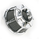 Chrome Bevelled Inverted Series Air Cleaner Kit - 18-936