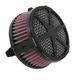 Black Spoke Air Cleaner - 06-0133-04B