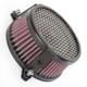 Black Plain Air Cleaner - 06-0225-03B