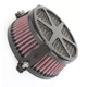 Black Spoke Air Cleaner - 06-0245-04B