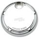 Chrome Slot Track Fuel Door - 04-148