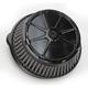 Decadent Black Powdercoat Fusion Air Cleaner - LA-F200-00B