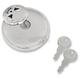 Chrome Non-Vented Screw-In Locking Skull Gas Cap - 0703-0689
