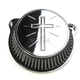 Chrome Standard Cross Air Cleaner Kit - LA-2395-01
