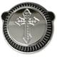 Chrome Spanish Cross Cross Air Cleaner Kit  - LA-2396-00