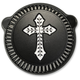 Black Spanish Cross Cross Air Cleaner Kit  - LA-2396-00B