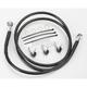 Front Extended Length Black Vinyl Braided Stainless Steel Brake Line Kit +10 in. - 1741-2543