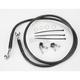 Front Standard Length Black Vinyl Braided Stainless Steel Brake Line Kit - 1741-2544
