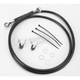 Front Extended Length Black Vinyl Braided Stainless Steel Brake Line Kit +8 in. - 1741-2548