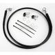 Front Extended Length Black Vinyl Braided Stainless Steel Brake Line Kit +2 in. - 1741-2569