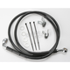 Front Extended Length Black Vinyl Braided Stainless Steel Brake Line Kit +4 in. - 1741-2570