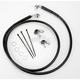 Front Extended Length Black Vinyl Braided Stainless Steel Brake Line Kit +8 in. - 1741-2572