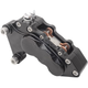 Black J-Six Ultra Six-Piston Front Brake Caliper for 13 Inch Rotors - 376T-563