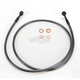 Black Pearl Designer Series 180 Degree Top Angle Custom Single-Disc Front Brake Line - 46452SW