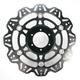 Front Black Vee Brake Rotor - VR1014BLK