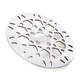 Rear 11.8 in. Mesh Polished Stainless Steel Brake Rotor - 17102030
