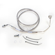 Front Standard Length ABS Stainless Steel Brake Line Kit - 1741-3845