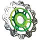 Front Green Vee Brake Rotor - VR4136GRN