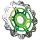 Front Green Vee Brake Rotor - VR4153GRN