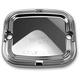 Front Chrome Slot Track Brake Master Cylinder Cover - 03-412
