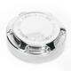 Rear Chrome Beveled Brake Master Cylinder Cover - 03-475