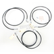 Black Vinyl-Coated Stainless Steel Brake Line Kit For Use With 12-14 Inch Ape Hangers - LA-8052B13B