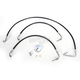 Black Vinyl-Coated Stainless Steel Brake Line Kit For Use With 15-17 Inch Ape Hangers - LA-8010B16B