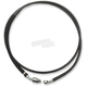 Stock Length Black Vinyl Coated Stainless Braided Clutch Line - 0661-0002