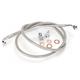 Stainless Braided Brake Line for Use w/Mini Ape Hangers - LA-8100B08