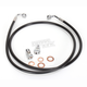 Black Vinyl Coated Stainless Braided Brake Line for Use w/15 in. to 17 in. Ape Hangers (w/o ABS) - LA-8100B16B